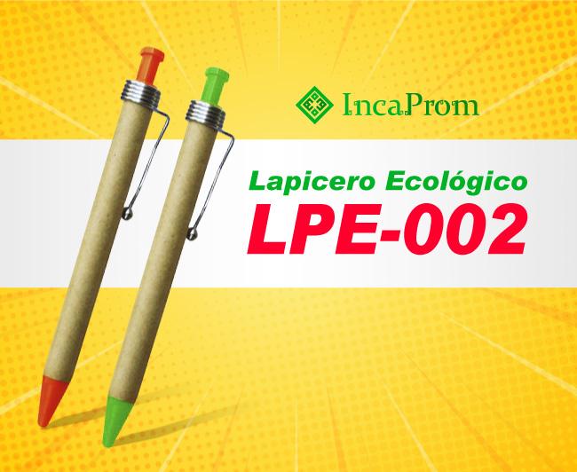 Lapicero Ecologico Publicitario LPE-002