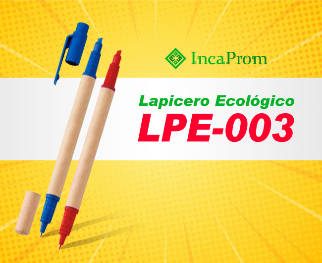 Lapicero Ecologico Publicitario LPE-003