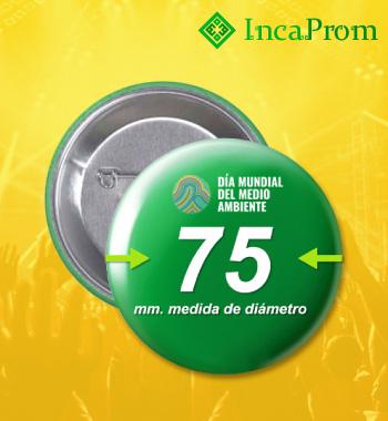 Pines 75mm Botones Prendedores Publicitarios Lima Peru
