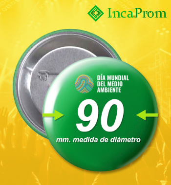 Pines 90 mm Botones Prendedores Publicitarios Lima Peru